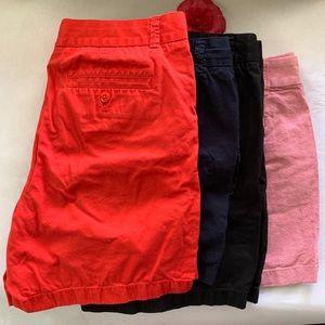 JCREW • shorts bundle chinos